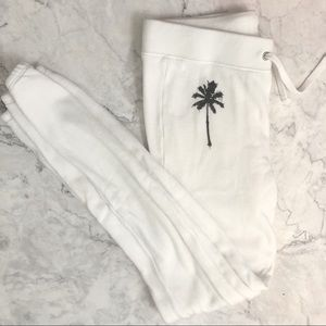 Pam & Gela white palm tree sweatpants